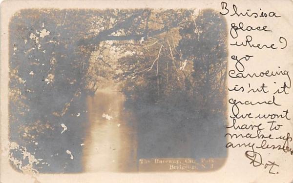 The Raceway, City Park Bridgeton, New Jersey Postcard