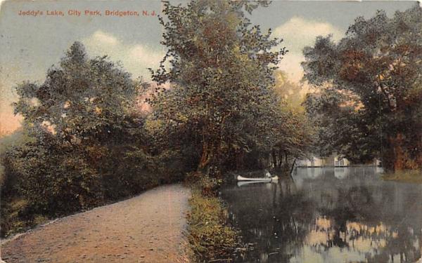 Jeddy's Lake, City Park Bridgeton, New Jersey Postcard