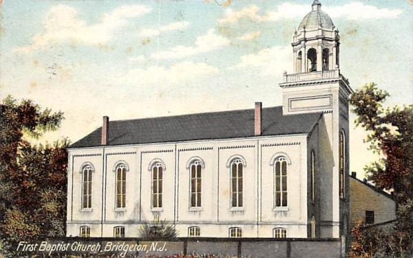 First Baptist Church Bridgeton, New Jersey Postcard