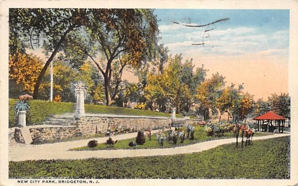 New City Park Bridgeton, New Jersey Postcard