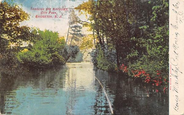 Through the Narrows, City Park Bridgeton, New Jersey Postcard