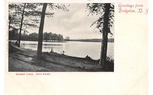 Sunset Laek, City Park Bridgeton, New Jersey Postcard