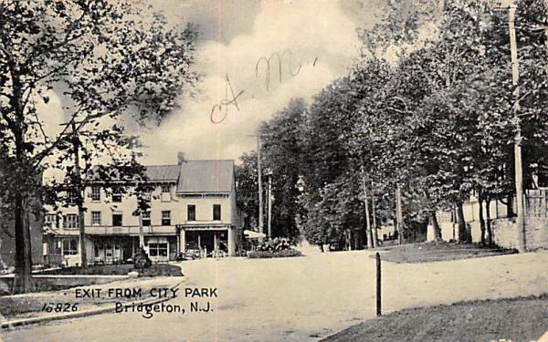 Exit from City Park Bridgeton, New Jersey Postcard
