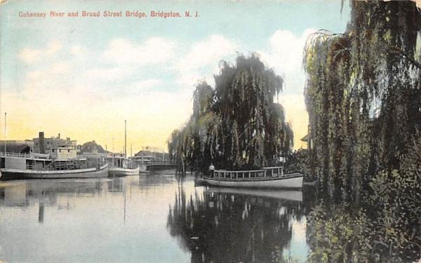Cohansey River and Board Street Bridge Bridgeton, New Jersey Postcard