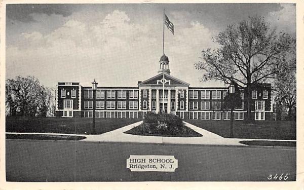 High School Bridgeton, New Jersey Postcard