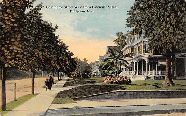 Commerce Street West of Lawrence Street Bridgeton, New Jersey Postcard