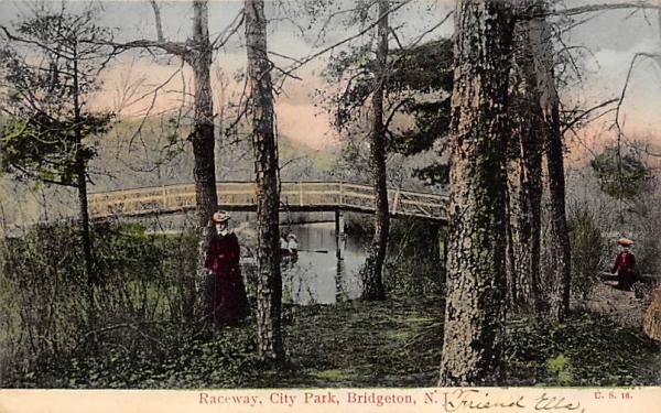 Raceway, City Park Bridgeton, New Jersey Postcard