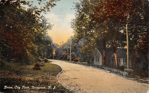 Drive, City Park Bridgeton, New Jersey Postcard