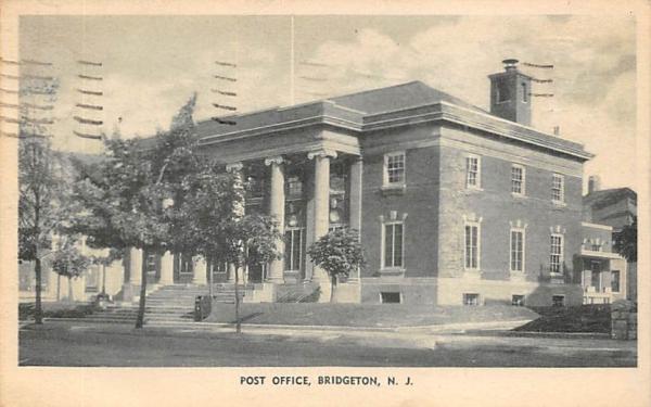 Post Office Bridgeton, New Jersey Postcard