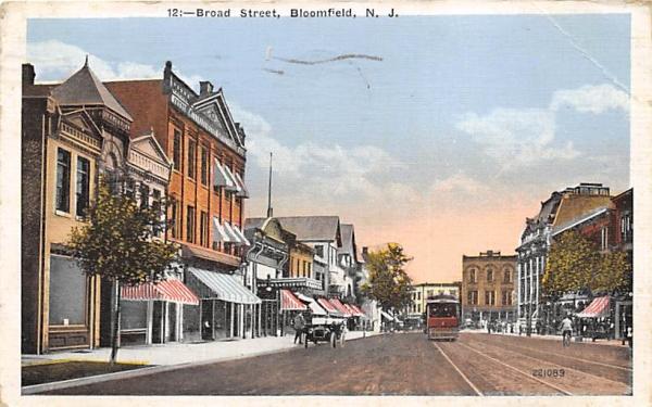 Broad Street Bloomfield, New Jersey Postcard