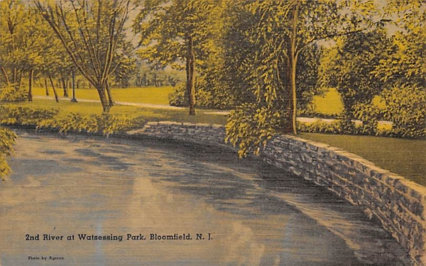 2nd River at Watsessing Park Bloomfield, New Jersey Postcard