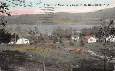 A View of Mountain Lake Belvidere, New Jersey Postcard