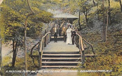 A Resting Place on your way to the Farmhouse Bellewood Park, New Jersey Postcard