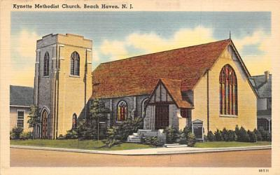 Kynette Methodist Church Beach Haven, New Jersey Postcard