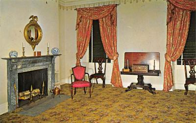 A sitting room of the mansion Batsto, New Jersey Postcard