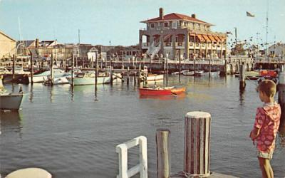 A scene at the Little Egg Harbor Yacht Club Beach Haven, New Jersey Postcard