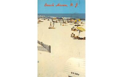 A Typical Day Relaxing  Beach Haven, New Jersey Postcard
