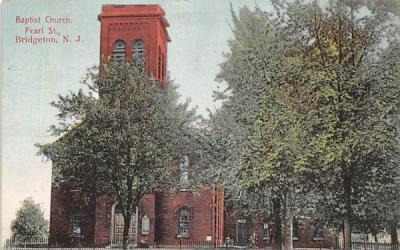 Baptist Church Bridgeton, New Jersey Postcard