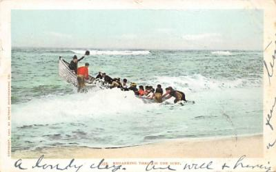 Embarking Through the Surf Beach Scene, New Jersey Postcard