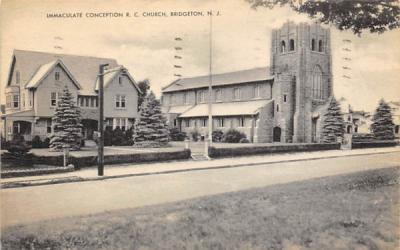 Immaculate Conception R. C. Church Bridgeton, New Jersey Postcard