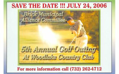 5th Annual Golf Outing at Woodlake Country Club Brick, New Jersey Postcard