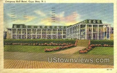 Congress Hotel  - Cape May, New Jersey NJ Postcard