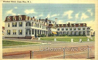Windsor Hotel  - Cape May, New Jersey NJ Postcard