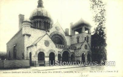 North Baptists Church  - Camden, New Jersey NJ Postcard