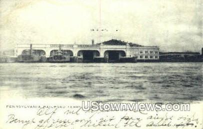 Penn Railroad Ferry  - Camden, New Jersey NJ Postcard