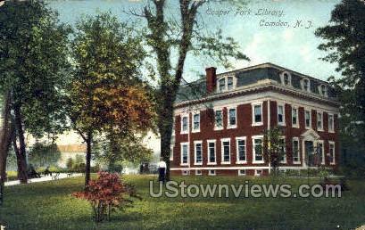 Cooper Park Library  - Camden, New Jersey NJ Postcard