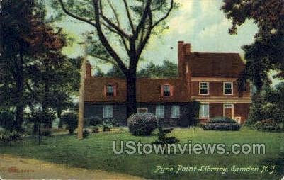 Pyne Point Library  - Camden, New Jersey NJ Postcard