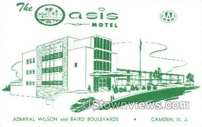 The Oasis Motel  - Camden, New Jersey NJ Postcard