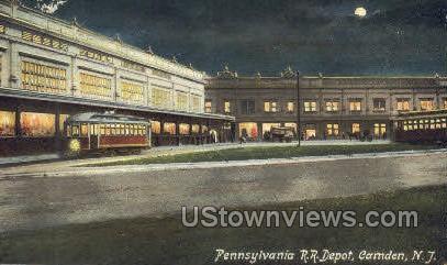 Pennsylvania Railroad Depot  - Camden, New Jersey NJ Postcard