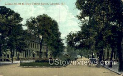 Linden Street  - Camden, New Jersey NJ Postcard