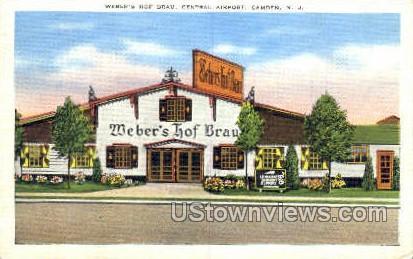 Webbers Hof Brau Central Airport - Camden, New Jersey NJ Postcard