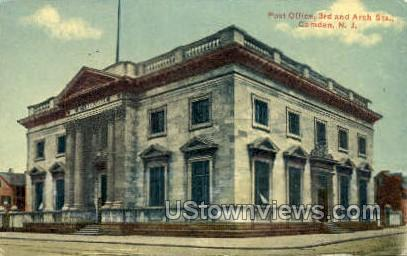Post Office 3Rd And Arch Streets  - Camden, New Jersey NJ Postcard