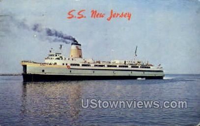 Ss New Jersey  - Cape May Postcard