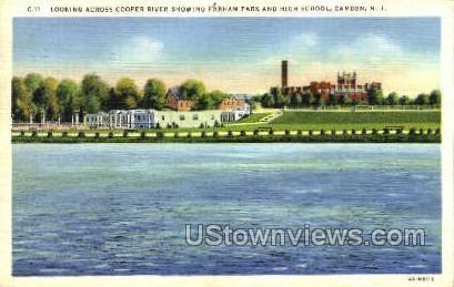 Looking Across Coopers River  - Camden, New Jersey NJ Postcard