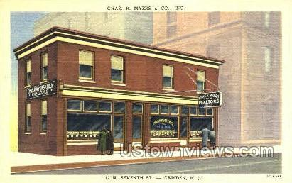 Chas R Myers & Co. Inc - Camden, New Jersey NJ Postcard