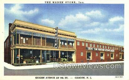 The Naden Store - Camden, New Jersey NJ Postcard