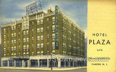 Hotel Plaza  - Camden, New Jersey NJ Postcard