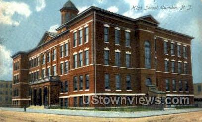High School  - Camden, New Jersey NJ Postcard