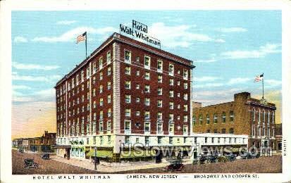 Hotel Walt Whitman  - Camden, New Jersey NJ Postcard