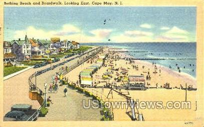 Beach  - Cape May, New Jersey NJ Postcard