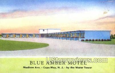 Blue Amber Motel  - Cape May, New Jersey NJ Postcard
