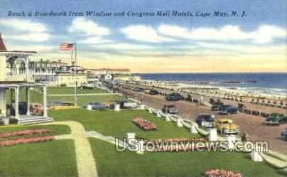 Windsor And Congress Hall Hotels  - Cape May, New Jersey NJ Postcard