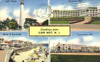 Greetings From  - Cape May, New Jersey NJ Postcard