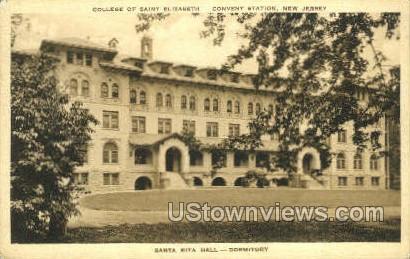 Santa Rita Hall  - Convent Station, New Jersey NJ Postcard