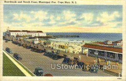Boardwalk - Cape May, New Jersey NJ Postcard