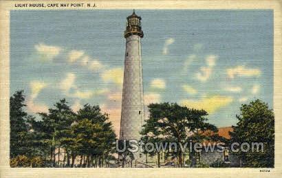 Light House  - Cape May, New Jersey NJ Postcard